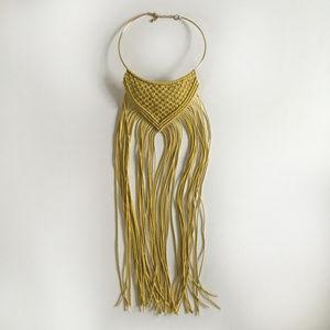FP Macrame Bib Choker Necklace